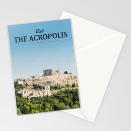 Visit The Acropolis Stationery Cards