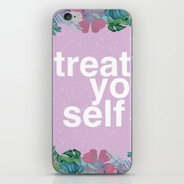 Treat Yo Self Floral Pattern iPhone Skin
