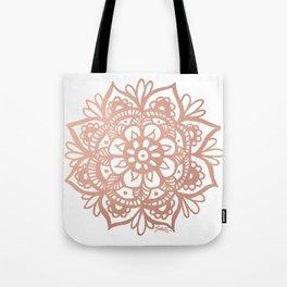 Rose Gold Mandala Tote Bag