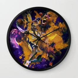 Lakers Legend Wall Clock