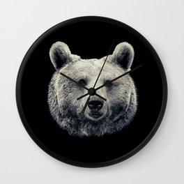 Bear Portrait Wall Clock