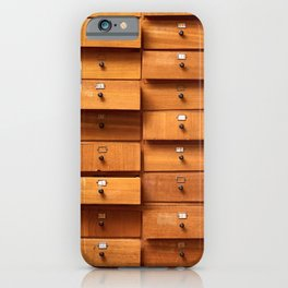 Wooden cabinet with drawers iPhone Case