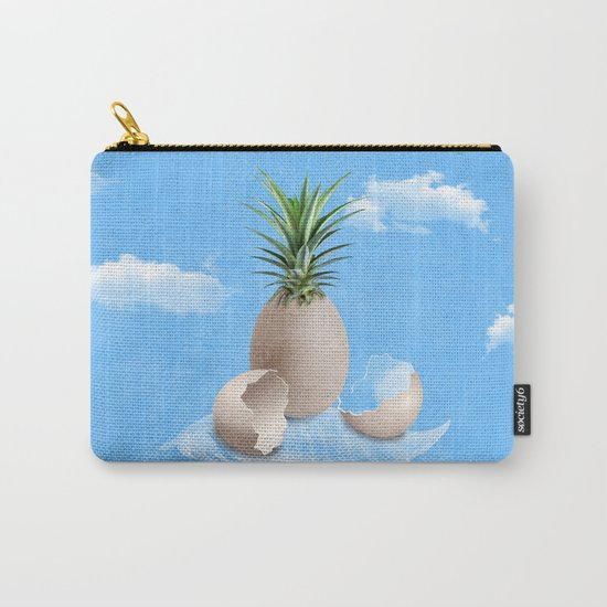 EGGS ON A FEATHER (surreal abstract) Carry-All Pouch