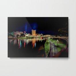 Adelaide Riverbank at Night IV Metal Print