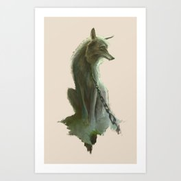Fenrir Art Print