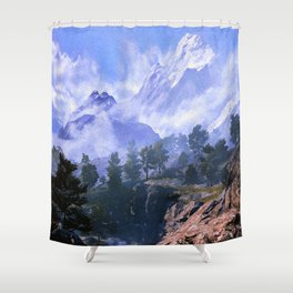 Our beloved mountains Shower Curtain