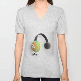 3D wifi headphones Unisex V-Neck
