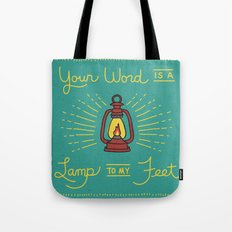 Your Word Is A Lamp To My Feet Tote Bag