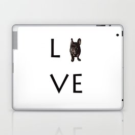 French Bulldog Love Art Print Laptop & iPad Skin