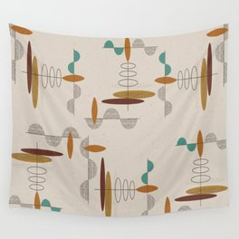 Mid-Century Modern Suspended Ovals Wall Tapestry