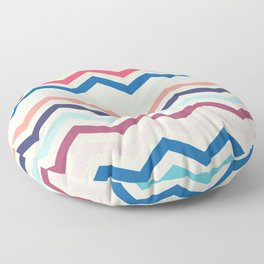 Blue and pink zigzags Floor Pillow