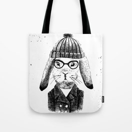 Hiphop Beanie Bunny Top Tote Bag