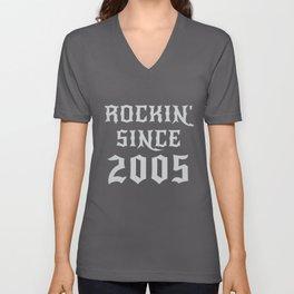 15 Year Old Classic Rock 2005 15th Birthday Gifts Men Women Unisex V-Neck