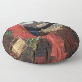 "John William Waterhouse - ""I am half sick of shadows"" said the Lady of Shalott Floor Pillow"
