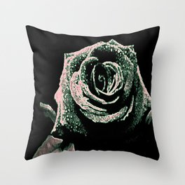 Sparkling Rose Throw Pillow