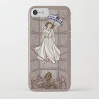 hallion iPhone & iPod Cases featuring Leia's Corruptible Mortal State by Karen Hallion Illustrations