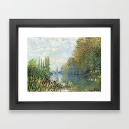 The Banks of The Seine in Autumn by Claude Monet Framed Art Print