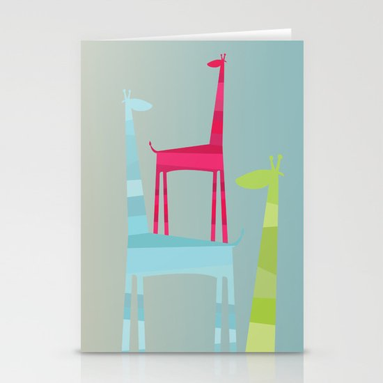 Giraffe Trio Stationery Cards