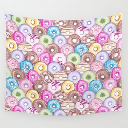 Donut Invasion Wall Tapestry