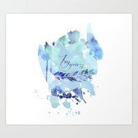 ygritte Art Prints featuring I'm yours by Rose's Creation