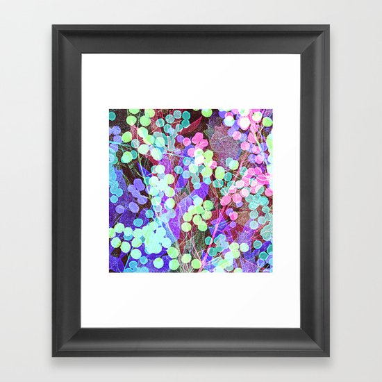 Dots & Leaves. Framed Art Print
