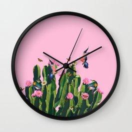 the Succulent Cactus Wall Clock