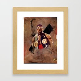 The Champ Framed Art Print