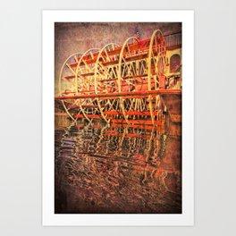 Paddle Wheel Reflection Art Print