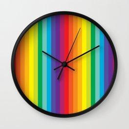 Rainbow Stripes Wall Clock