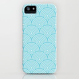 Scales - Light Blue & White #984 iPhone Case