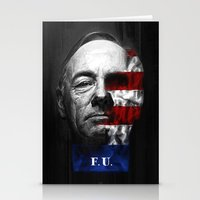 house of cards Stationery Cards featuring House of Cards by offbeatzombie