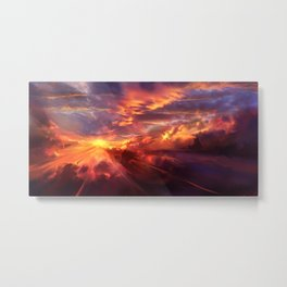 Red Radiance Metal Print