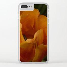Orange tulip Clear iPhone Case