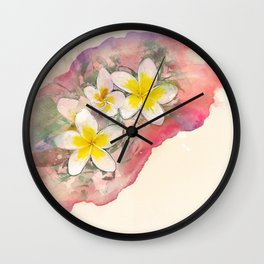 Summer floral Wall Clock