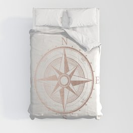 Rose Gold Compass Comforters