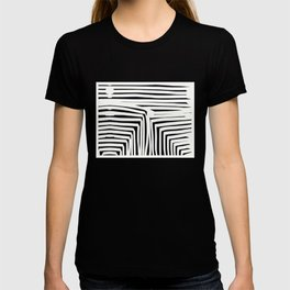 Black and white abstract cube T-shirt