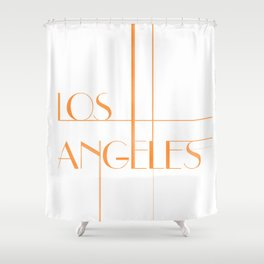 Los Angeles Deco Print Shower Curtain