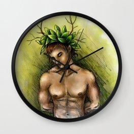 Boy of tree Wall Clock