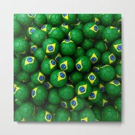 BRAZIL FOOTBALLS Metal Print