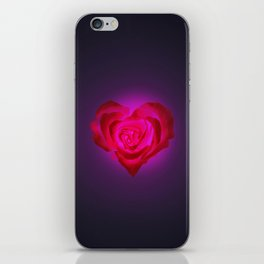 Heart of flower iPhone Skin