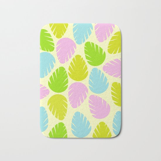 Colorful spring leaves Bath Mat
