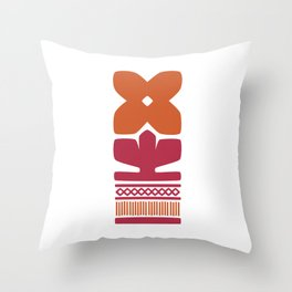 Nordic Orange Flower Throw Pillow