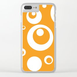Circles Dots Bubbles :: Marmalade Clear iPhone Case