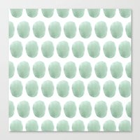 polkadot Canvas Prints featuring Watercolour polkadot by Mouseblossom