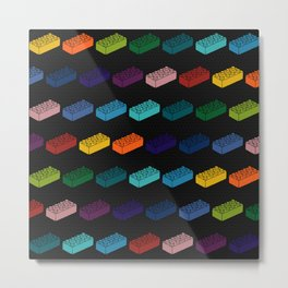 Game Bricks Pattern Metal Print