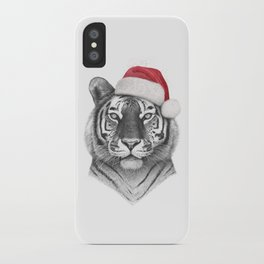 Christmas Tiger iPhone Case