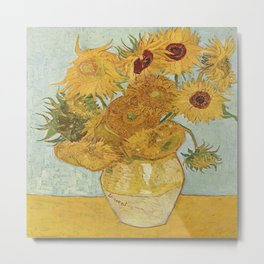 Vincent van Gogh's Sunflowers Metal Print