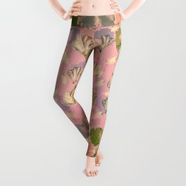 Mosaic Ginkgo (Peach and Pink) Leggings