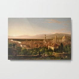View of the Duomo and Florence, Italy by Thomas Cole Metal Print