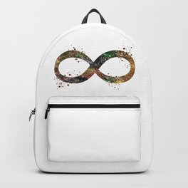 Infinity Symbol Art Colorful Ouroboros Watercolor Art Timeless Gift Meditation Art Backpack